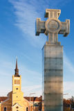 The Cross of Liberty. Tallinn, Estonia Royalty Free Stock Photography