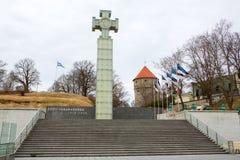 Cross of Liberty. Tallinn, Estonia Stock Photos