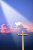 Cross and Light Royalty Free Stock Images