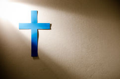 Cross and light Stock Image