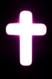 Cross. Light of cross in the dark background royalty free stock photo