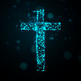 Cross of light. Great vector illustration, EPS Stock Photos