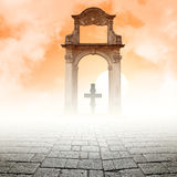 Cross and the light Royalty Free Stock Photos