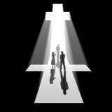 Cross of light Stock Images
