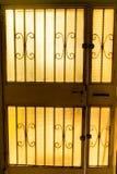 Cross-light white door Royalty Free Stock Photo