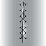 Cross linked thread seam. Royalty Free Stock Photo