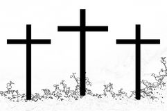 Cross lll. Symbol of the Christian faith Vector Illustration