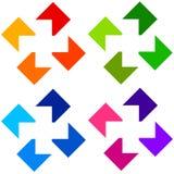 Cross logo Stock Images