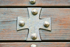 cross lombardy  seprio abstract    curch  closed wood italy Stock Photo