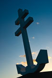 Cross of Lorraine in Greenock. Cross of Lorraine monument to the Free French forces who died in the Second World War, WW11. The cross includes an anchor because Royalty Free Stock Photos