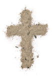 Cross made of ashes Royalty Free Stock Photography