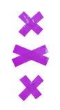 Cross made of insulating tape isolated Stock Image