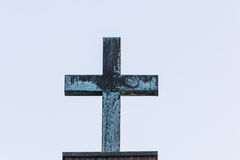 Cross made of metal Stock Photography
