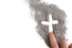 Free Cross Made Of Ashes, Ash Wednesday, Lent Season Abstract Background Stock Photos - 169369503