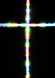 Cross made with several light colors Stock Photography