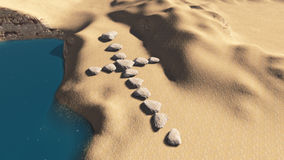 Cross made from stones. Cross  from stouns made in 3d software Royalty Free Stock Photo