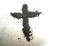 Cross Made up of Ash royalty free stock image