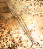 Cross made from wire Royalty Free Stock Photography
