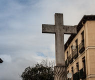 Cross in madrid Royalty Free Stock Photo
