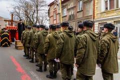 Cross march marking the Veneration of the Cross Sunday in Uzhgor Royalty Free Stock Photos