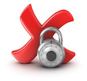 Cross Mark with Lock Stock Images