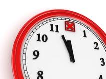 Cross markerar på en klocka. Royaltyfri Bild