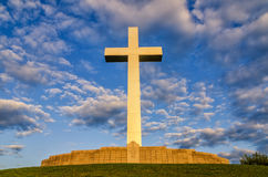 Cross memorial, Wicliff Kentucky. This beautiful cross memorial overlooks the confluence of the Ohio and Mississippi Rivers in Western Kentucky Royalty Free Stock Photos