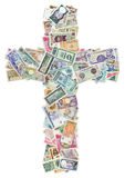 Cross from money Royalty Free Stock Photography