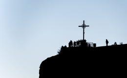 Cross in Montserrat, Catalonia, Spain Stock Photo