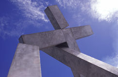 Cross monument Stock Images