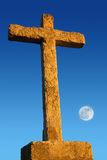 Cross and Moon Royalty Free Stock Photography