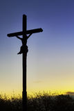 Cross with morning sky Stock Images