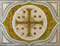 Cross mosaic tile Stock Images