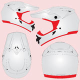 Cross motorcycle helmet Stock Images