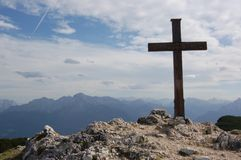 Cross in the mouintains (Alps) - Austria Royalty Free Stock Images