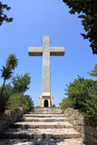 Cross on mount filerimos, Greece, Rhodes Royalty Free Stock Images
