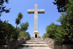 Cross on the mount Filerimos, Greece, Rhodes Stock Photo