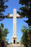 Cross on Mount Filerimos. Rhodes. Greece Royalty Free Stock Photography