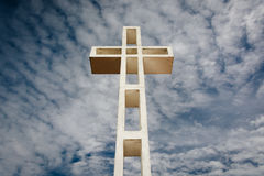 Cross on Mount Soledad, in La Jolla, California. stock images