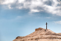 Cross on mountain Royalty Free Stock Photos
