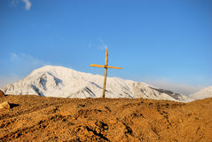 Cross and Mountain Stock Images