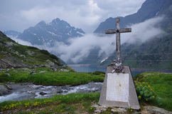 Cross on a Mountain Royalty Free Stock Photography