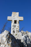 Cross on the mountain (on Golgotha) Royalty Free Stock Photo