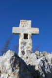 Cross on the mountain (on Golgotha) Royalty Free Stock Photo