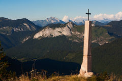 Cross and mountain Royalty Free Stock Photo