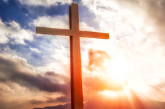 Cross in the mountain Royalty Free Stock Photo