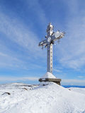 Cross at mountain top Royalty Free Stock Photography