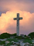Cross on mountain top Stock Photos