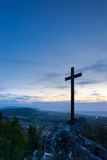 Cross on Mountain Top Royalty Free Stock Image