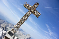 Cross at mountain top Royalty Free Stock Photo